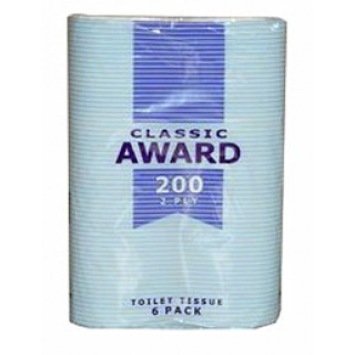 Award toilet roll 2ply 200s 72pk