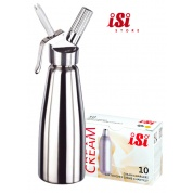 iSI Cream whipper 0.5 Litre+ Cream Chargers (10)